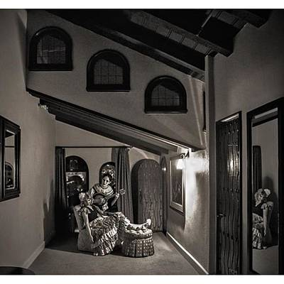 Horror Wall Art - Photograph - The #odd Angles In This Room At The by Sad Hill - Bizarre Los Angeles Archive