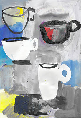 Painting - The Odd Coffee Cup by Amara Dacer