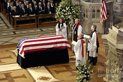 Clergy Photograph - The Officiating Clergy For The Funeral by Stocktrek Images