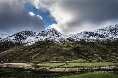 North Wales Digital Art - The Ogwen Valley  by Chris Evans