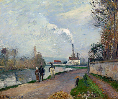 Pontoise Painting - The Oise Near Pontoise In Grey Weather by Mountain Dreams