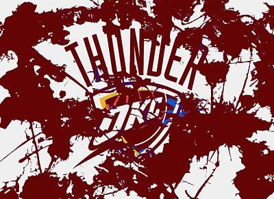 Oklahoma City Thunder Mixed Media - The Oklahoma City Thunder 1a by Brian Reaves