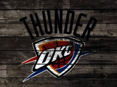 Oklahoma City Thunder Mixed Media - The Oklahoma City Thunder W7           by Brian Reaves