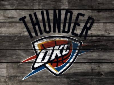 Oklahoma City Thunder Mixed Media - The Oklahoma City Thunder W8           by Brian Reaves