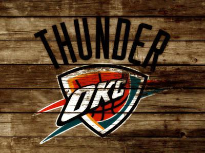 Oklahoma City Thunder Mixed Media - The Oklahoma City Thunder W9           by Brian Reaves