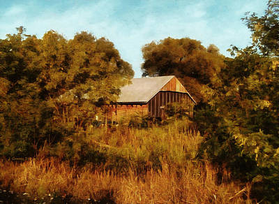 Digital Art - The Old Auto Shed by JGracey Stinson