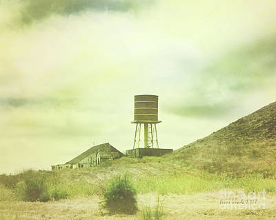 Photograph - The Old Barn And Water Tower In Vintage Style San Luis Obispo California by Artist and Photographer Laura Wrede