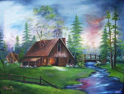 Painting - The Old Barn by Debra Campbell