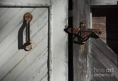 Photograph - The Old Barn Door  by Debra Fedchin