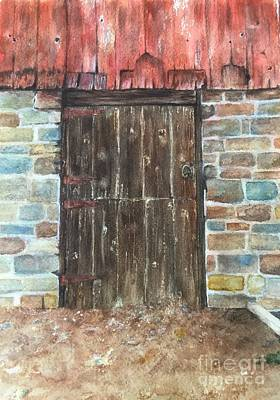 Painting - The Old Barn Door by Lucia Grilletto