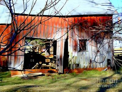 Digital Art - The Old Barn by Ed Weidman