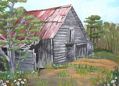 Painting - The Old Barn by Pamela Anderson