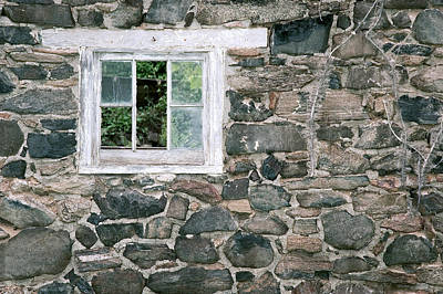 The Old Barn Window Art Print