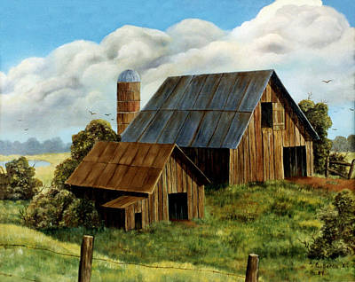 Painting - The Old Barns by Charlotte Bacon