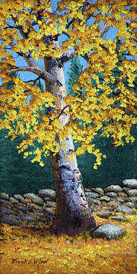 Painting - The Old Birch by Frank Wilson