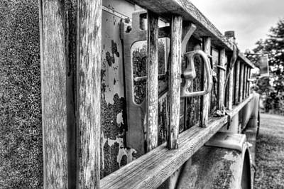 Photograph - The Old Black And White Firetruck by JC Findley