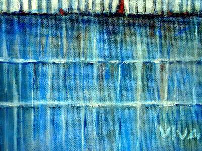 Painting - The Old Blue Barn by VIVA Anderson