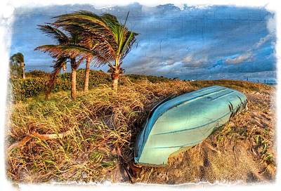 Delray Photograph - The Old Blue Boat by Debra and Dave Vanderlaan