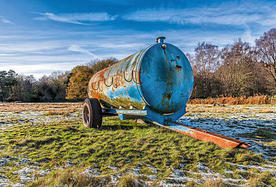 Photograph - The Old Blue Bowser by Nick Bywater