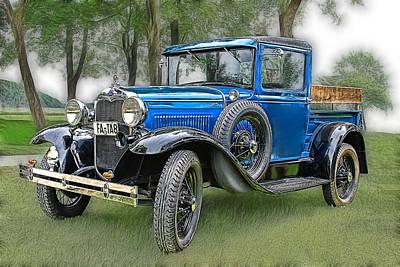 Pick Up Photograph - The Old Blue One 2 by Joachim G Pinkawa