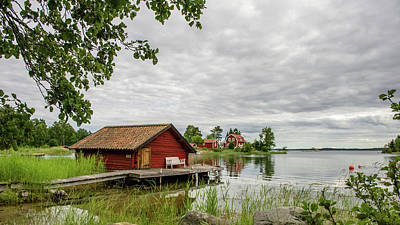 Photograph - The Old Boat-house by Torbjorn Swenelius