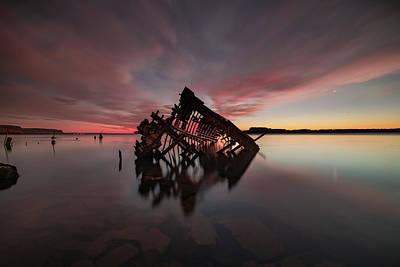 Photograph - The Old Boat Skeleton Am by Jakub Sisak