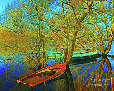 Photograph - The Old Boats 15418 by Ray Shrewsberry