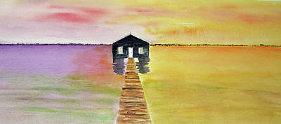 Painting - The Old Boat Shed by Elvira Ingram