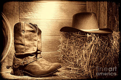 Photograph - The Old Boots by American West Legend By Olivier Le Queinec