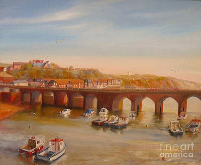 Painting - The Old Bridge - Folkestone Harbour by Beatrice Cloake