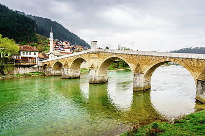 Photograph - The Old Bridge In Konjic by Alexey Stiop