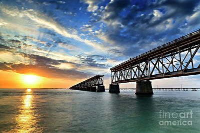 Photograph - The Old Bridge Sunset - V2 by Eyzen M Kim