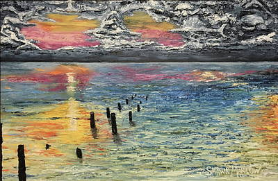 Painting - The Old Broken Pier by Shawn Marlow