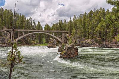 Photograph - The Old Canyon Bridge by John M Bailey
