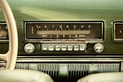 60s Music Photograph - The Old Car Radio by Martin Bergsma