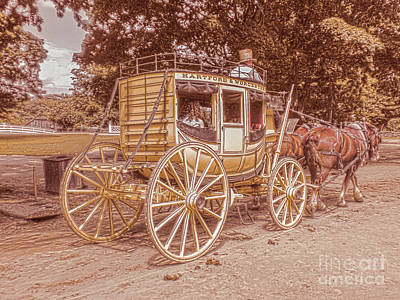 The Old Carriage Art Print by Claudia M Photography