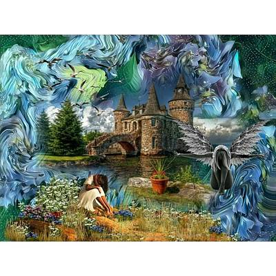 Mixed Media - The Old Castle by Susanne Baumann