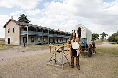Photograph - The Old Cavalry Barracks At Fort Laramie National Historic Site by Carol M Highsmith