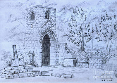 Drawing - The Old Chantry by Anthony Lyon