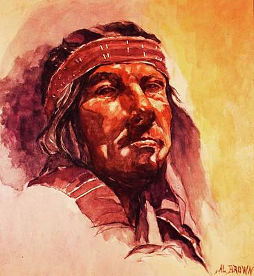 Painting - The Old Chief by Al Brown