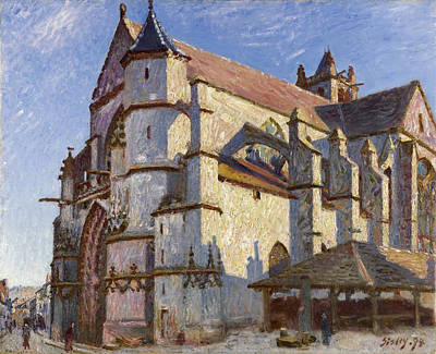 Painting - The Old Church At Moret In Morning Sun by Alfred Sisley