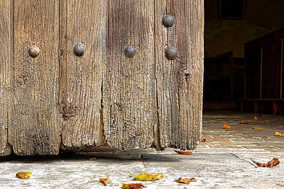 The Old Church Door Art Print by Olivier Le Queinec