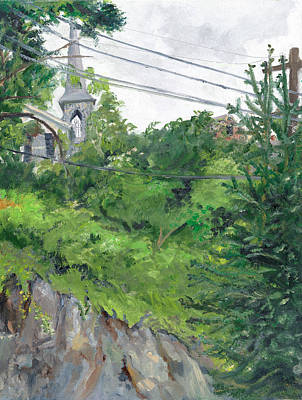 Wall Art - Painting - The Old Church Ellicott City by Katherine Farrell