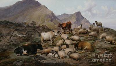 Roy Painting - The Old Clachan Of Abergoil In The Rob Roy Country  by Celestial Images