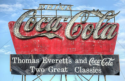 Coca-cola Sign Photograph - The Old Coca-cola Sign by JC Findley