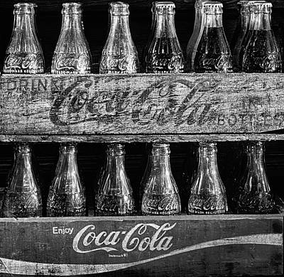 Cocacola Photograph - The Old Coke Stack In Black And White by JC Findley
