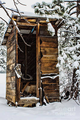 Photograph - The Old Cold Privy by Steven Parker