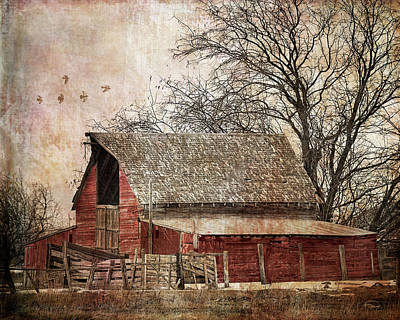 Digital Art - The Old Cope Barn by Ramona Murdock