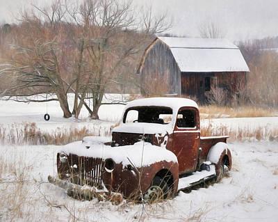 Barn Digital Art - The Old Lawn Ornament by Lori Deiter