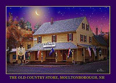 Photograph - The Old Country Store Moultonborough Nh by Nancy Griswold